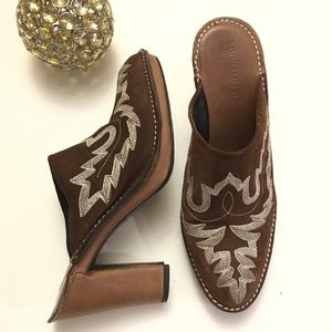 Donald j Pliner western style mules